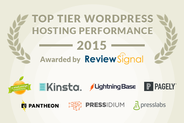 Review Signal WordPress Hosting Benchmark Award 2015