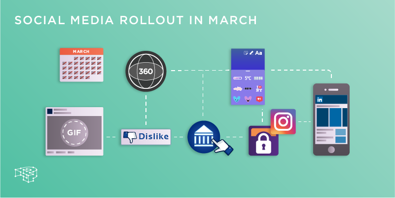 social media rollout in march