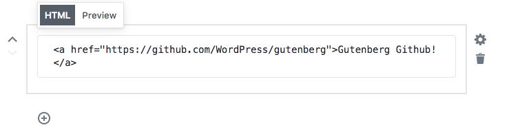 Gutenberg Editor Custom HTML block