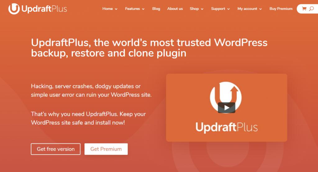Backup WordPress with Updraft