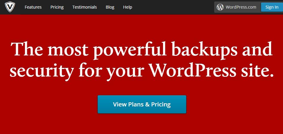 Backup WordPress with VaultPress