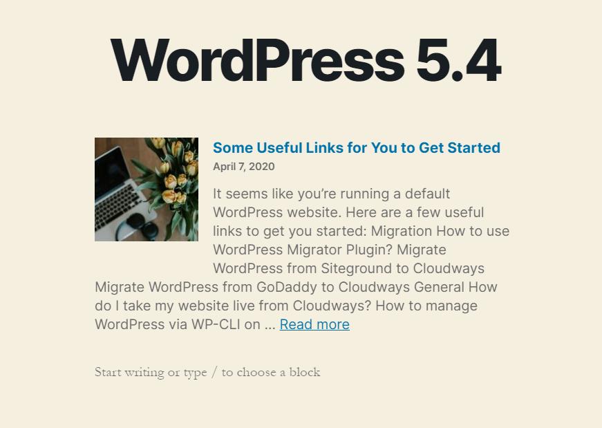 Latest Posts Block in WordPress 5.4