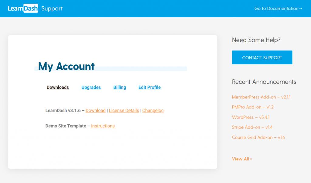LearnDash Account