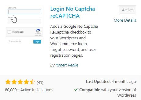 login reCaptcha