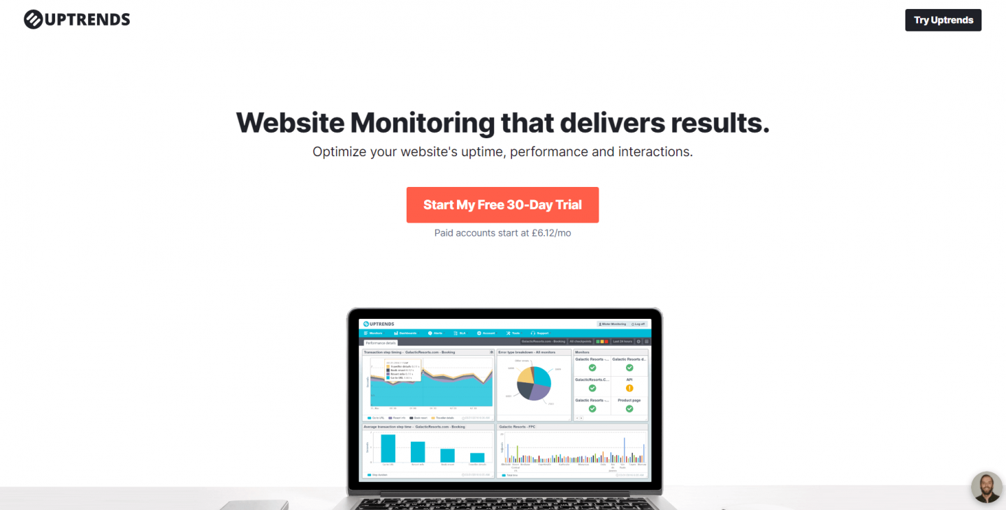 Monitor your website with Uptrends
