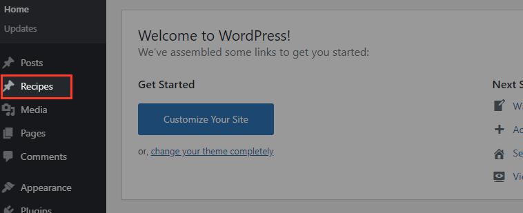 custom post type menu position