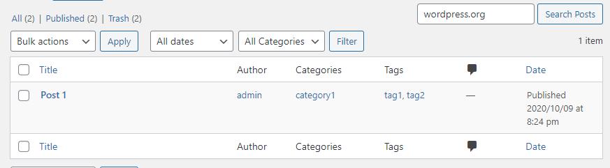 improve the wordpress admin search
