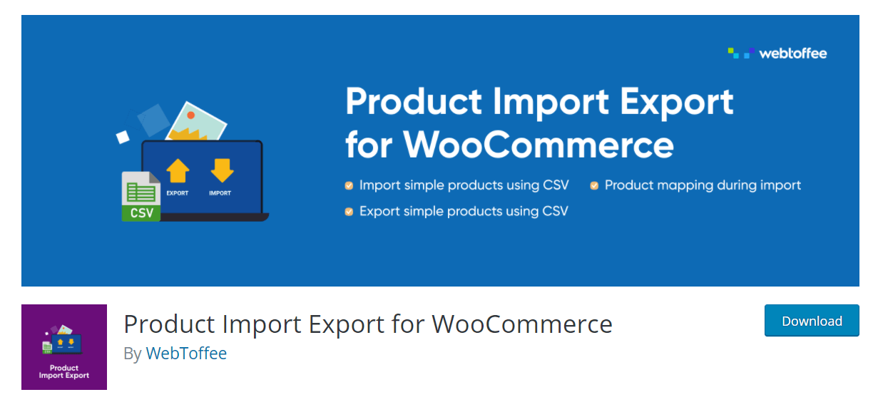 import woocommerce products using a plugin